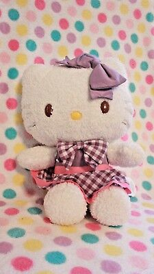 "Retired Limited Edition Hello Kitty 12"" Plush Purple Ribbon Collection Sanrio"