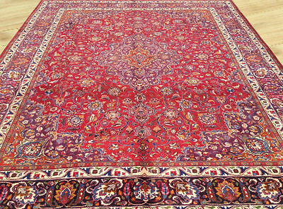 Low Price Hand Knotted Semi Antique Persian Mashad Large Area Rug 10x13 Ft (M6)