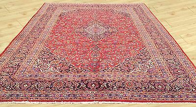 Low Price Hand Knotted Semi Antique Persian Kashan Large Area Rug 10 x 13 Ft (M5