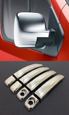 Renault TRAFIC Chrome 4 Door Handle Cover S.Steel + Mirror ABS Cover 2pcs 2014on