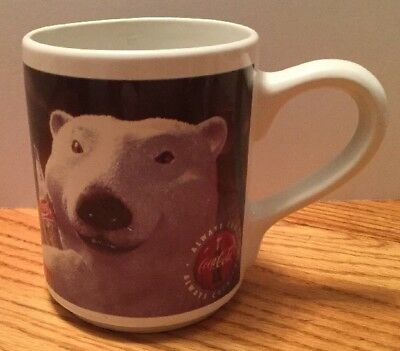 COCA COLA Coffee Mug Polar Bear 1996 Collectible RARE