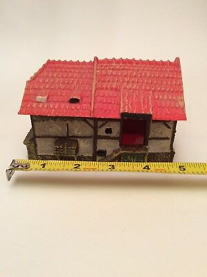 Vintage Model Train Layout Scenery Coop Shed Building Railroad House Germany
