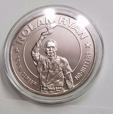 1993 Republic of Liberia $1 Nolan Ryan 1 oz Proof Silver Round - MINT condition