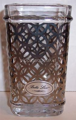 Bella Lux Dark Pattern on Thick Glass Bathroom Cup Tumbler