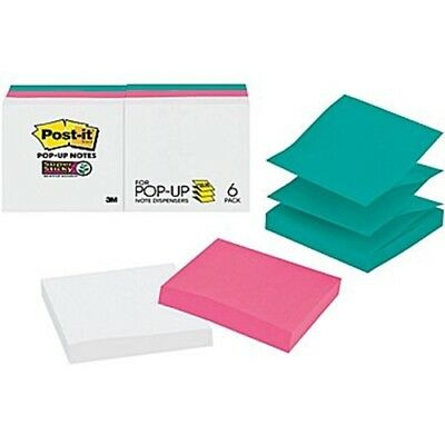 """Post-It R330-6SSWPG Pop-up Notes, 3"""" x 3"""", Assorted, 6 Pads/Pack ~ Free Shipping"""