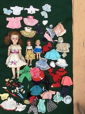 """Antique Vogue Dolls, 17"""" Composite Doll 1940 with Lot of Doll Clothes"""