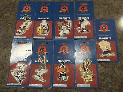 Looney Tunes Warner Bros. Lot of 9 Vintage 1990s Rubber Magnets Bugs Bunny NEW