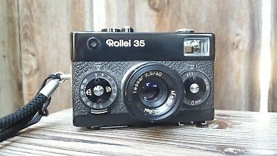 Rollei 35 Rangerfinder 35mm Camera Tessar f3.5 Black