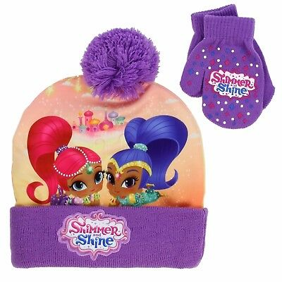 Shimmer and Shine Girls Beanie Hat and Mittens Set (Toddler)