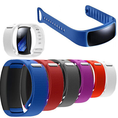 Silicone Luxury Replacement Watch Band Strap For Samsung Gear Fit 2 SM-R360 Top