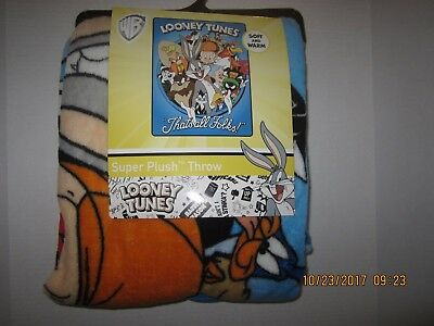 Looney Tunes That's All Folks! Blanket Bugs Bunny Tweety Sylvester And Gang