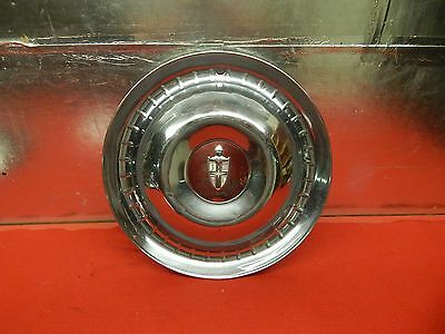 "1 USED 52 53 Lincoln 15"" WheelCover Knight's Head Crest Center Emblem Red"