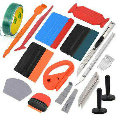 PRO Car Wrap Vinyl Tinting Tool Kit for Film Install Soft Squeegee Magnet Glove
