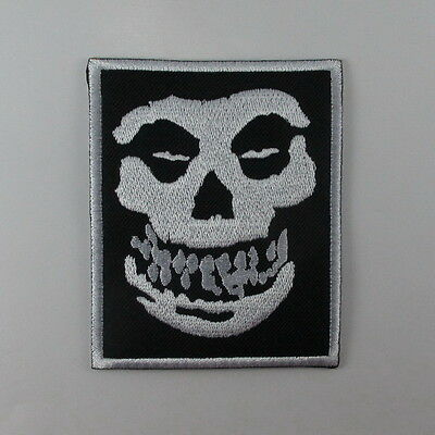 Misfits Horror Punk Embroidered Music Band Logo Sew Iron On Patch T-Shirt Jacket