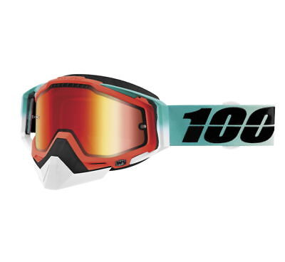 100% Racecraft Snow Goggles Size Cubica w/Red Lens