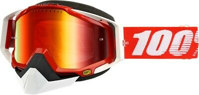 100% Racecraft Snow Goggles Size Fire Red w/Red Lens