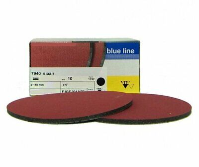 Sia Siaair 7940 Velvet Sanding Disc 1000 Grit Box of 10 150mm Polishing Backing
