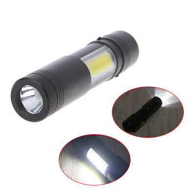 Mini 12000LM XPE Q5 +COB LED Flashlight 14500/AA 4 modes Pocket Clip Torch Light