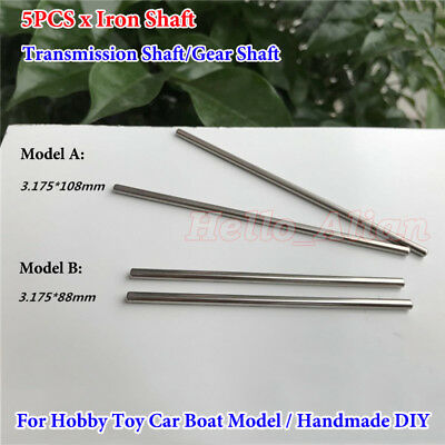 5PCS 3.175mm Model Axles Gear Iron Shaft Transmission Shaft For Toy Car Boat DIY