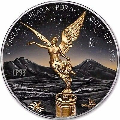 2017 1 Oz Silver MEXICAN LIBERTAD AT SUNSET Coin