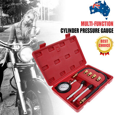 Automotive Motorcycles Test Gauge Tool Petrol Engine Compression Tester Kit Set