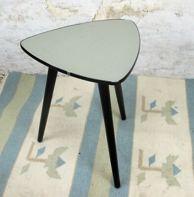 Vintage Tripod Coffee Side Table Mid Century Space Age  Rockabilly   Plant Stand