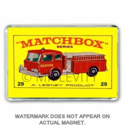 Retro  Matchbox Toy Series  Fire Engine (29)  Jumbo Fridge  / Locker Magnet