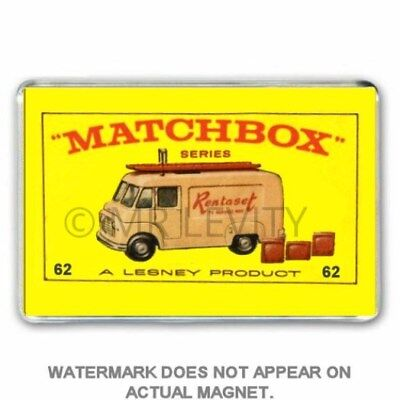 RETRO  MATCHBOX SERIES  CAR RENTASET (I had these) JUMBO FRIDGE  / LOCKER MAGNET