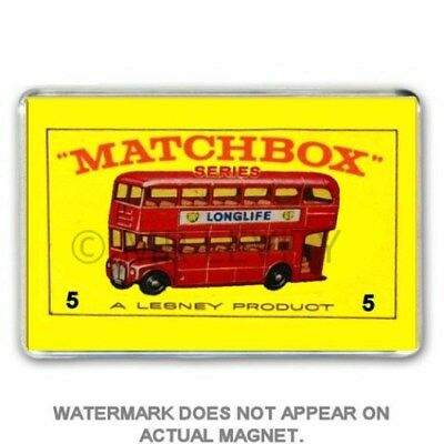 Retro  Matchbox Series Routemaster Bus Jumbo Fridge  / Locker Magnet