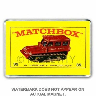 RETRO  MATCHBOX SERIES  CAR MEMORIES (I had these) JUMBO FRIDGE  / LOCKER MAGNET