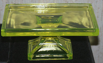 Clark's Teaberry Gum Vaseline Glass Store Display Footed Stand