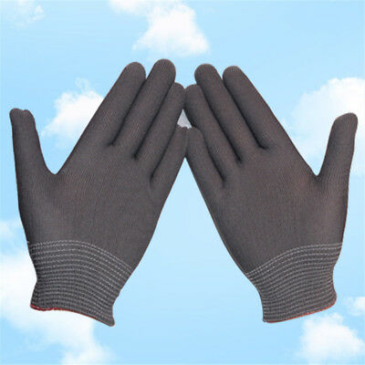 1/12Pairs Nylon Gray Color Safety Coating Work Gloves Builders Palm Protect S