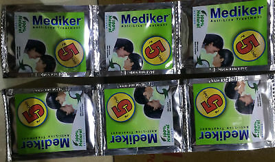 200 X Mediker Anti Lice Treatment Shampoo. 5 ML Pouch. 100% Natural FSWW
