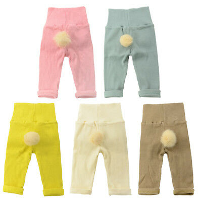 Toddler Boys Girls Trousers Tight Pants Stretch Warm Knitted Leggings Bottoms