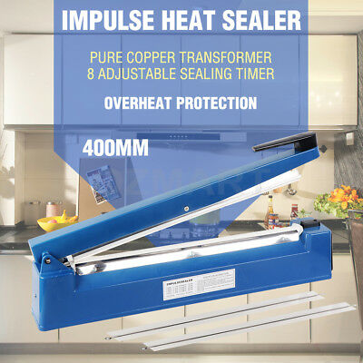 400mm Electric Impulse Heat Sealer Sealing Machine Plastic Poly Bag AU Stock NEW