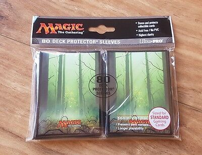 Ultra Pro Deck Protector Sleeves - 80 pack - Forest Mana 5 Green - MTG