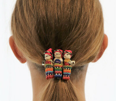 3 Worry Doll Hair Clip, Hair accessories, Made in Mexico, Multi-colour