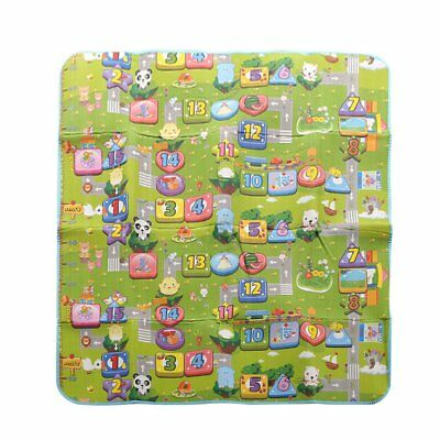 2 Side Kids Crawling Educational Game Baby Play Mat Foam Carpet 200 x 180cm Sof
