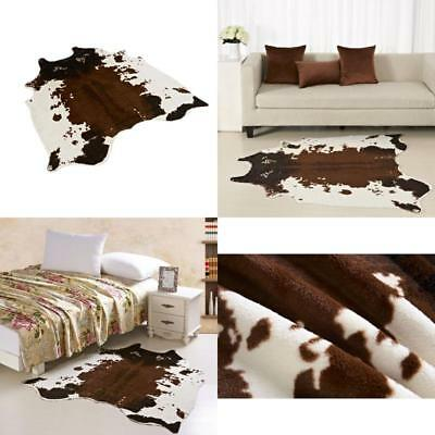 Large Cowhide Rug Tricolor Cowskin Cow Hide Leather Carpet Brown White Area Rugs
