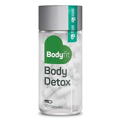 Bodyfit Body Detox Cleanse Pills - Aloe Vera Toxin Rid - Stomach Bloating Relief