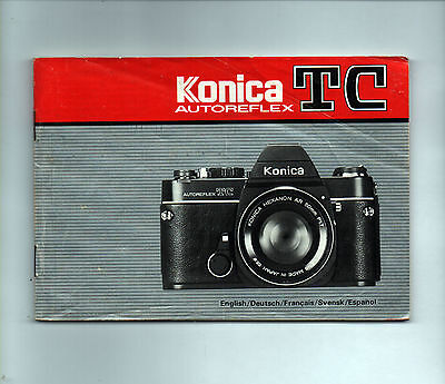 KONICA TC Autoreflex Instruction Book Operating Guide Camera User Manual Booklet