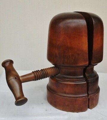 Charming Antique Wooden Hat Stretcher/Block Working Order Millinery Shop Display
