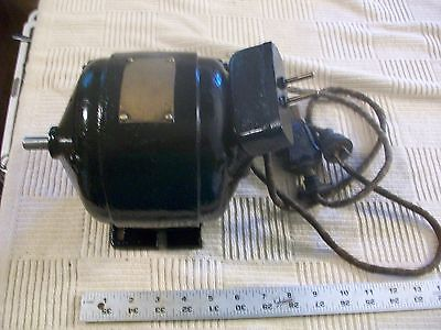 Antique 1/6 HP Westinghouse AC Motor with Switch on Cord From Vintage Lathe