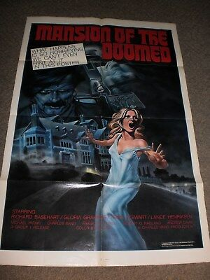 Mansion Of The Doomed ('76) Orig. One 1 Sheet Horror Poster Cult Grindhouse RARE
