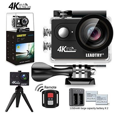 Action Camera LeadTry HP7R Full 4K HD Wifi, Mini 12MP Underwater Photography Cam