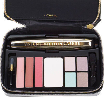 L'Oreal Pink Makeup Palette Gift Set With Eyeshadow, Lipstick & Black Mascara