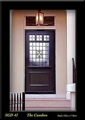 Solid wood & Stained glass exterior Door  WOW