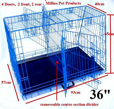 "Estate Car / Hatchback / Suv Sloping Dog Guard Cage Crate, Xl 36"" Size, 4 Doors"