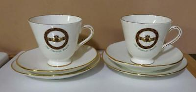 Royal Tara The Claddagh Brooch Bone China Trio Cup Saucer Dessert Plate Set of 2