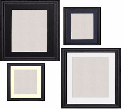 Black Photo Frame Picture Poster Frames With Mounts Black White Ivory Blue